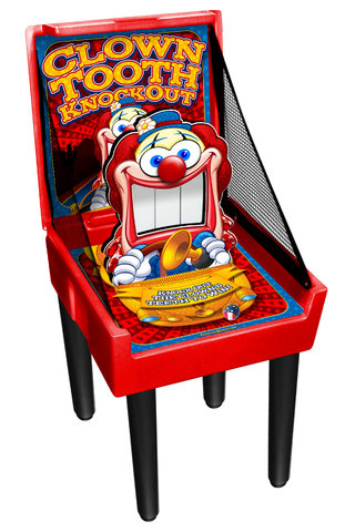 Clown Tooth Knockout Carnival Game